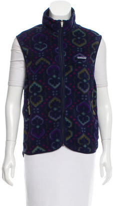 Patagonia Printed Fleece Vest $65 thestylecure.com