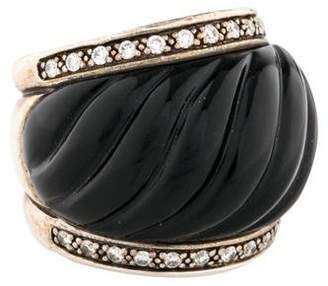 David Yurman Onyx & Diamond Sculpted Ring