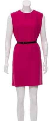 Saint Laurent Sleeveless Mini Dress Magenta Sleeveless Mini Dress