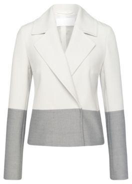Hugo Boss Kerma Viscose Colorblocked Blazer 0 Patterned $545 thestylecure.com