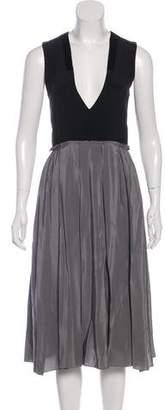 Prabal Gurung Silk Sleeveless Midi Dress