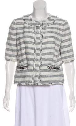 MICHAEL Michael Kors Striped Metallic Jacket