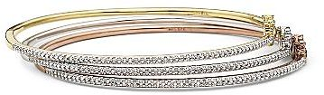 FINE JEWELRY Diamond Tri-Color Bangles 3-pc. Set