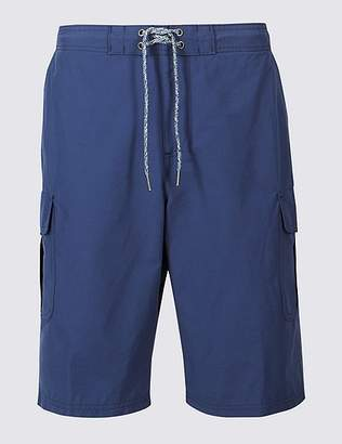 Marks and Spencer Cotton Rich Quick Dry Swim Shorts