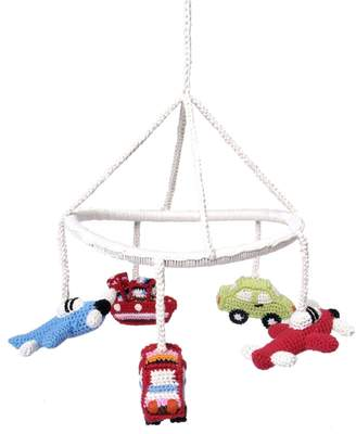 Anne Claire Hand-Crocheted Crib Mobile With Vehicles