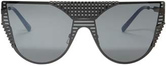 Cat Eye Oxydo Matte Shield Sunglasses