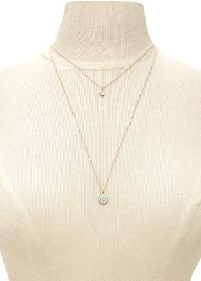 Forever 21 Halo Charm Layered Necklace