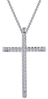 Lafonn Sterling Silver CZ Cross Pendant Necklace