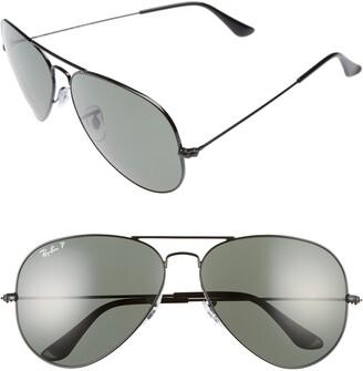 Ray-Ban Icons 62mm Polarized Aviator Sunglasses
