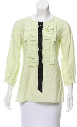 Marc Jacobs Ruffle-Trimmed Silk Top