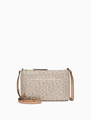 Calvin Klein monogram zip crossbody bag