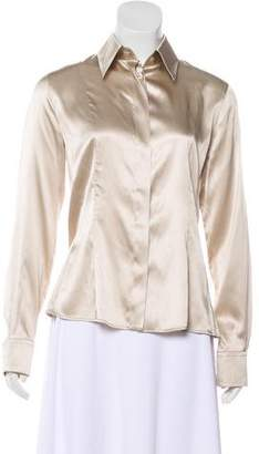 Armani Collezioni Silk Button-Up Top