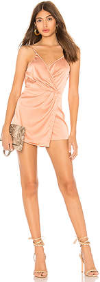 by the way. Lennox Satin Drape Romper