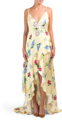 Juniors Cross Back Silky Dress