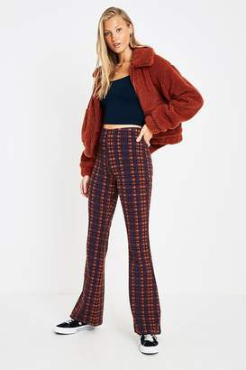 Urban Outfitters Plaid Jacquard Flare Pant