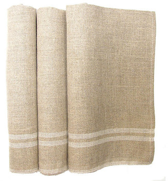 One Kings Lane Vintage French Linen Torchons - Set of 3 - Chez Vous