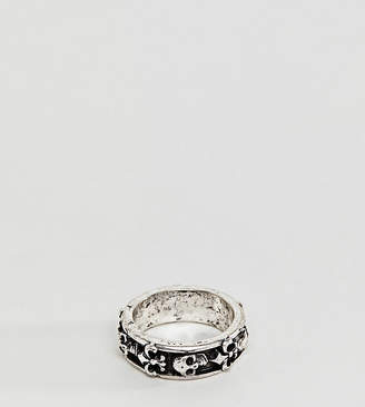 Reclaimed Vintage Inspired Band Ring With Skull Exclusive To ASOS
