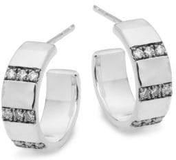 Ippolita Sterling Silver & Diamond C-Hoop Earrings