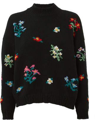 Philosophy di Lorenzo Serafini Intarsia Floral Sweater
