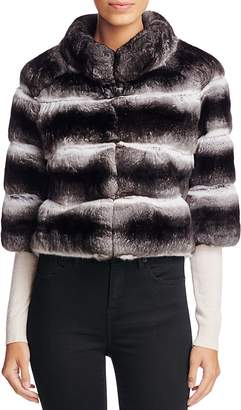 Maximilian Furs Anna Chinchilla Cropped Jacket