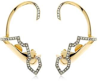 Schield Geometric Sculpture Earrings