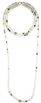 Alexis Bittar Triple Strand Pearl Necklace