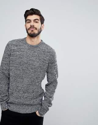 Brave Soul Tubular Rib Crew Neck Sweater