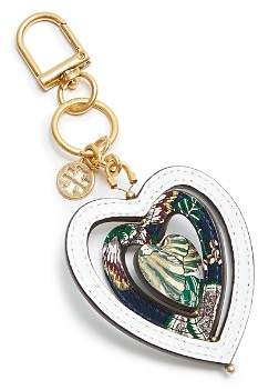 Tory Burch Heart Spinner Leather Key Fob