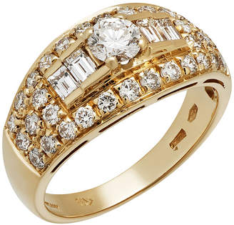 Bvlgari Estate 18k Yellow Gold Mixed-Cut Diamond Ring, Size 6.5