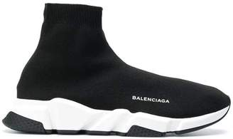 Balenciaga Speed Trainer Black White Black