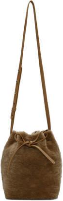 Mansur Gavriel Tan Shearling Mini Bucket Bag