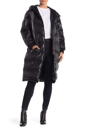 7 For All Mankind Long Hooded Down Coat