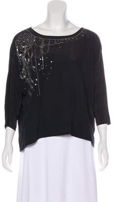 Fifteen-Twenty Fifteen Twenty Silk Embellished Top