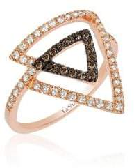 LeVian Le Vian 14K Strawberry Gold Neo-Geo Framed Diamond Ring