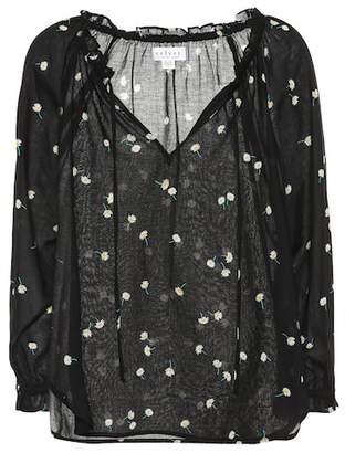 Velvet Freya florla-printed cotton blouse