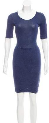Raquel Allegra Long Sleeve Knee-Length Dress