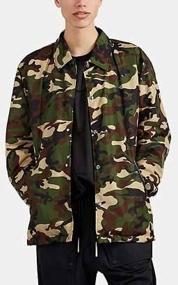 Mastermind Japan Men's Skull-Embroidered Camouflage Coach's Jacket - Olive