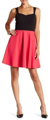 CeCe Margot Sleeveless Colorblock Scuba Dress