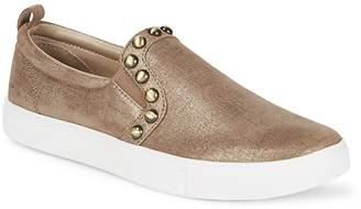 Donald J Pliner Women's Selene Leather Slip-On Sneakers
