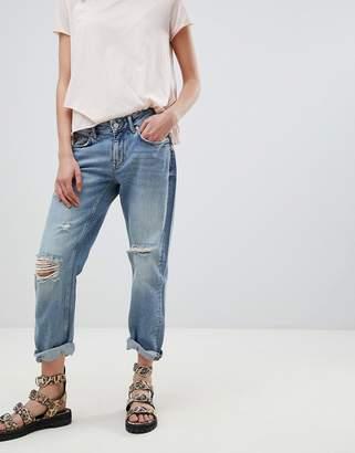 AllSaints Slouchy Distressed Boyfriend Jeans