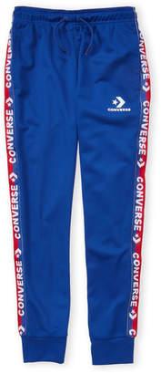 5e4baf697eb3ea Converse Boys 8-20) Blue Logo Tape Tricot Pants
