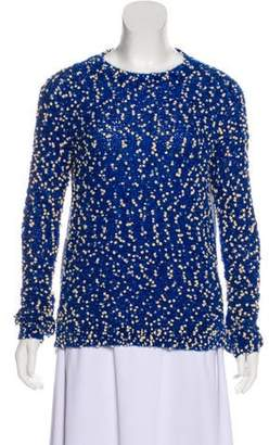 Julien David Long-Sleeve Textured Top