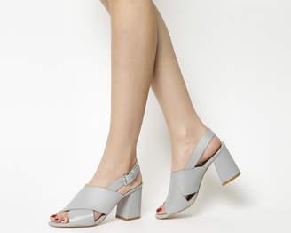 Office Memory Slingback Block Heel Sandals