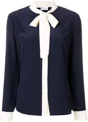 RED Valentino bow detail silk shirt