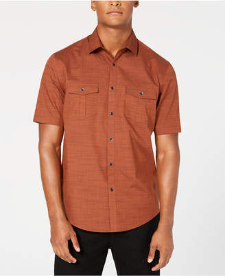 Alfani Men Warren Textured Short Sleeve Shirt