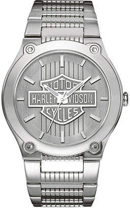 Harley-Davidson Analog The Signature Collection Stainless Steel Bracelet Watch