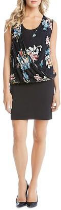 Karen Kane Floral Drape Front Dress $148 thestylecure.com