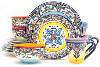 EuroCeramica Zanzibar 16 Piece Stoneware Dinnerware Set