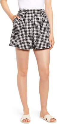 Lou & Grey Floral Gingham Shorts
