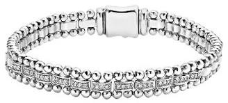 Women's Lagos Caviar Spark Diamond Link Bracelet $1,000 thestylecure.com